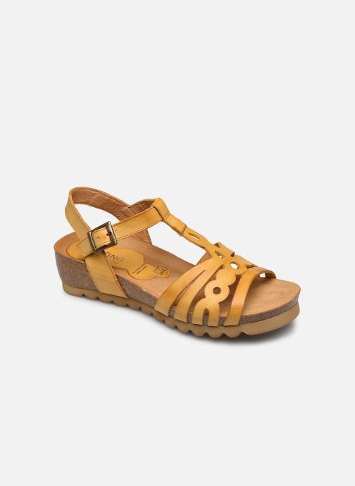 Sandales et nu-pieds Dorking Summer D8158 Jaune vue détail/paire