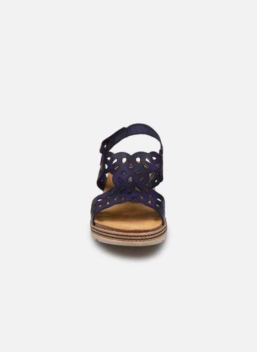 Sandales et nu-pieds Dorking Espe D8178 Bleu vue portées chaussures