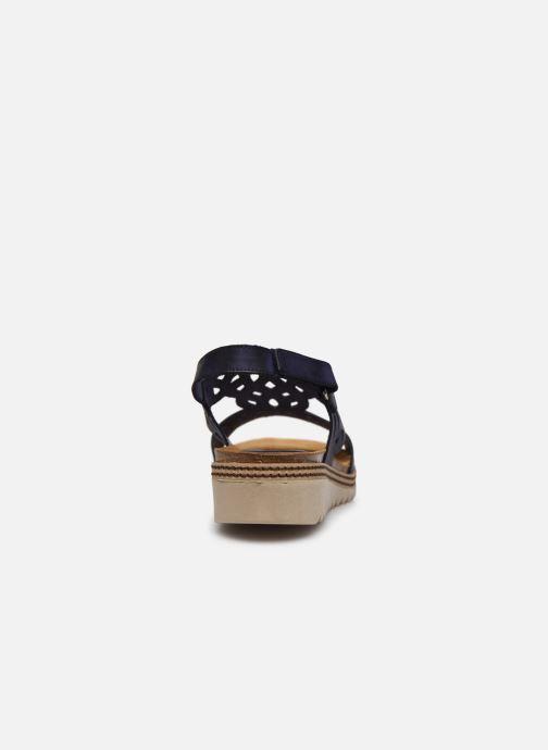 Sandales et nu-pieds Dorking Espe D8178 Bleu vue droite