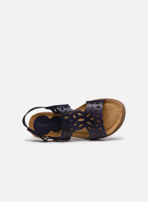 Sandales et nu-pieds Dorking Espe D8178 Bleu vue gauche