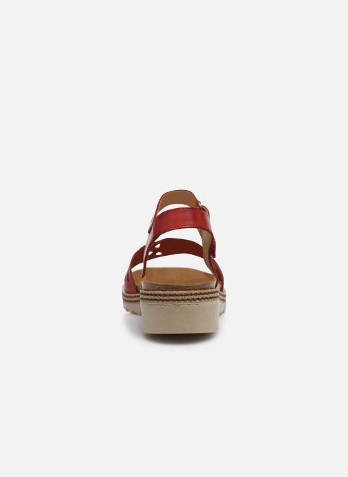 Sandales et nu-pieds Dorking Espe D8179 Rouge vue droite