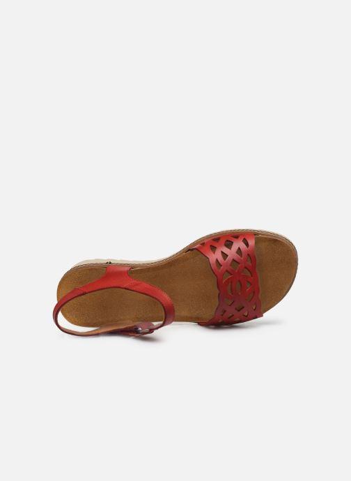 Sandales et nu-pieds Dorking Espe D8179 Rouge vue gauche