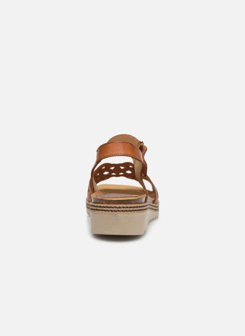 Sandales et nu-pieds Dorking Espe D8179 Marron vue droite