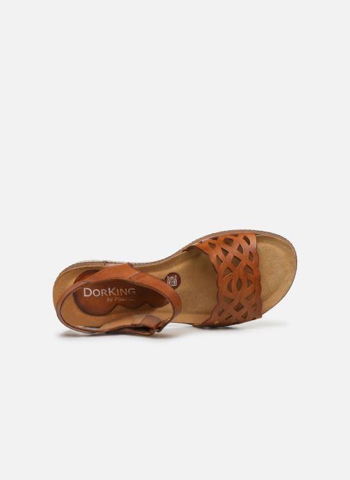 Sandales et nu-pieds Dorking Espe D8179 Marron vue gauche