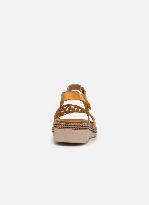 Sandalen Dorking Espe D8179 Geel rechts