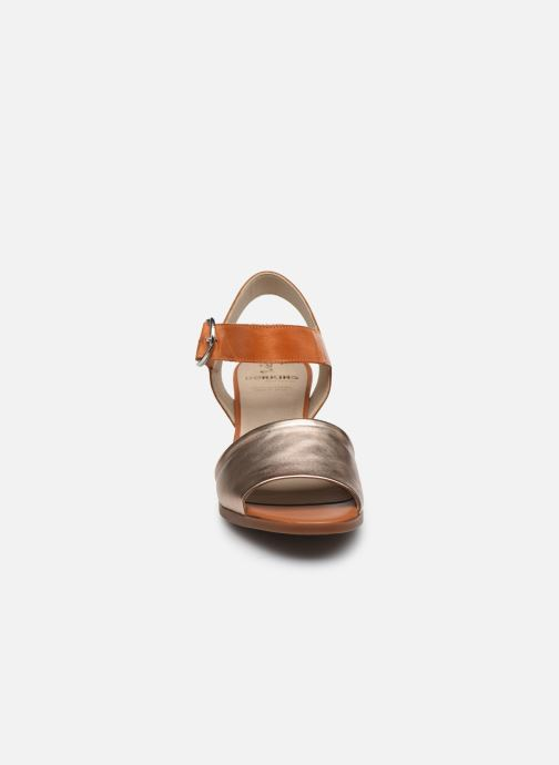 Sandali e scarpe aperte Dorking Norqui D8174 Oro e bronzo modello indossato