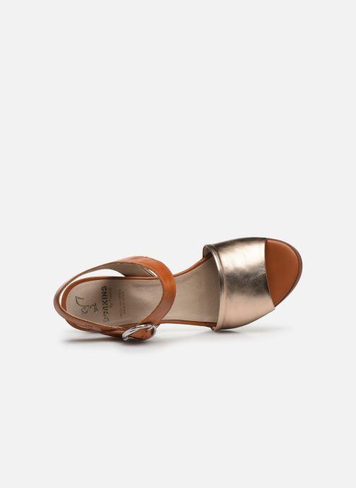 Sandali e scarpe aperte Dorking Norqui D8174 Oro e bronzo immagine sinistra