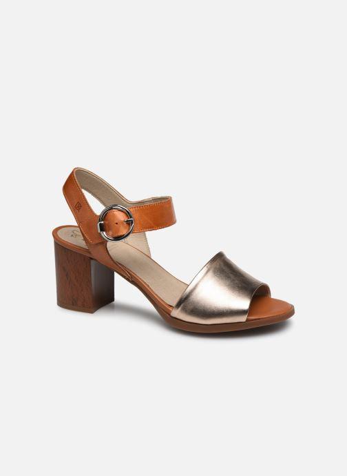 Sandales et nu-pieds Dorking Norqui D8174 Or et bronze vue détail/paire