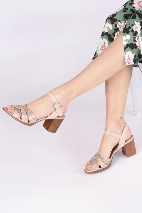 Sandales et nu-pieds Dorking Norqui D8175 Rose vue bas / vue portée sac