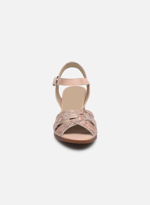 Sandales et nu-pieds Dorking Norqui D8175 Rose vue portées chaussures