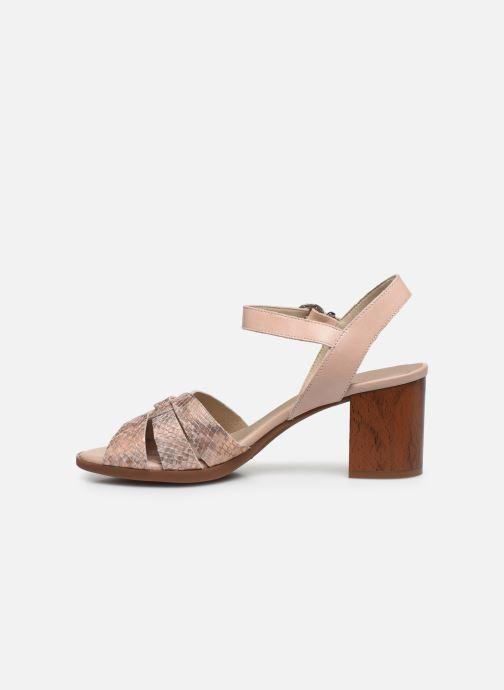 Sandales et nu-pieds Dorking Norqui D8175 Rose vue face