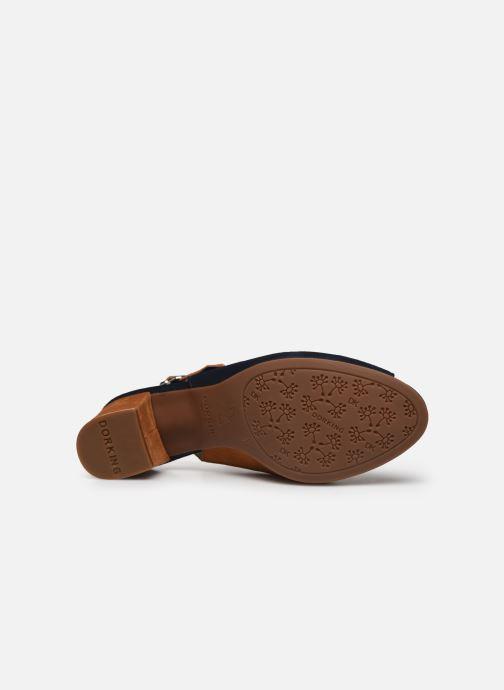 Sandales et nu-pieds Dorking Xia D8213 Bleu vue haut
