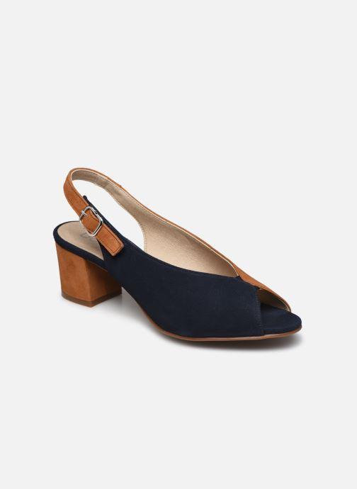 Sandales et nu-pieds Dorking Xia D8213 Bleu vue détail/paire