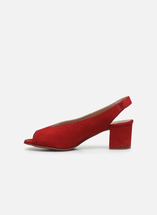 Sandales et nu-pieds Dorking Xia D8210 Rouge vue face