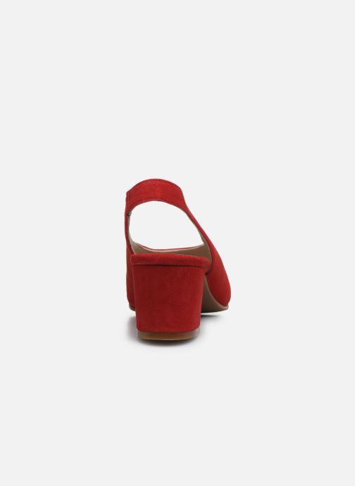 Sandales et nu-pieds Dorking Xia D8210 Rouge vue droite