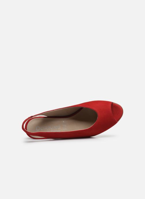 Sandales et nu-pieds Dorking Xia D8210 Rouge vue gauche