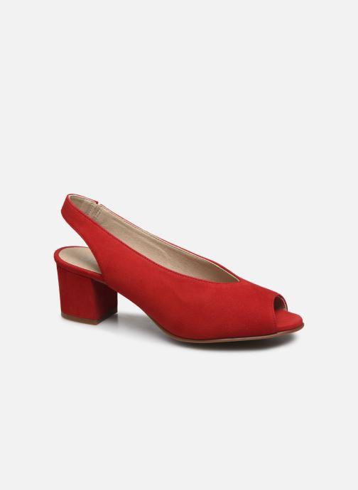 Sandales et nu-pieds Dorking Xia D8210 Rouge vue détail/paire