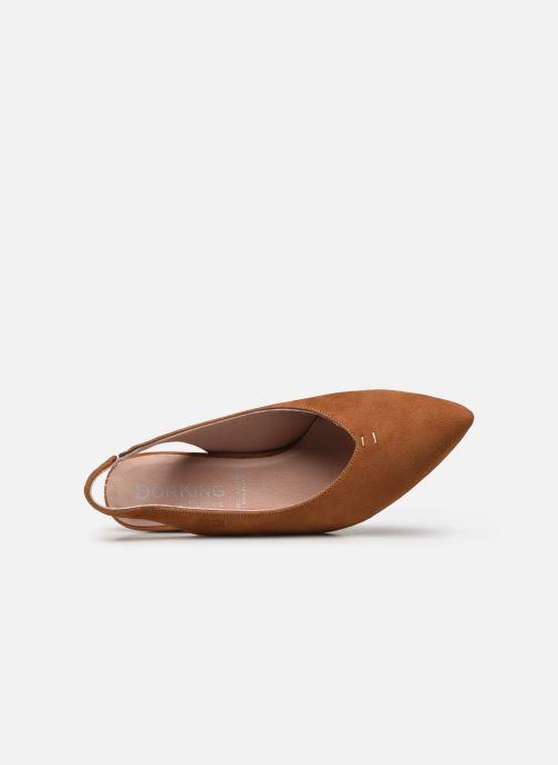 Zapatos de tacón Dorking Sofi D7806 Marrón vista lateral izquierda