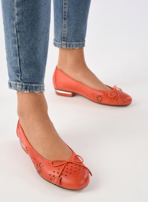 Bailarinas Dorking Irem 8119 Naranja vista de abajo