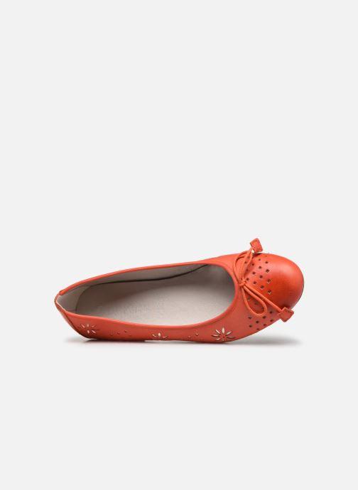 Bailarinas Dorking Irem 8119 Naranja vista lateral izquierda