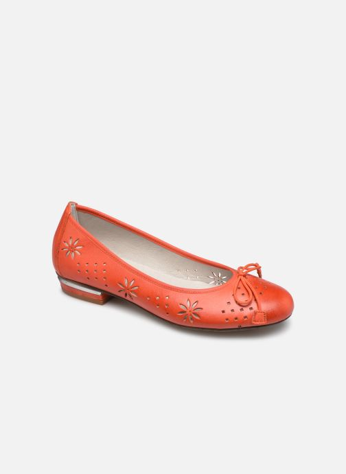 Ballerines Dorking Irem 8119 Orange vue détail/paire