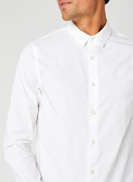 Vêtements Calvin Klein Jeans Ck Chest Logo Slim Stretch Shirt Blanc vue face