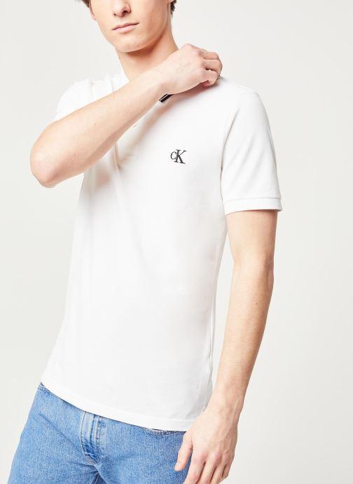 Kleding Calvin Klein Jeans Ck Essential Tipping Slim Polo Wit rechts