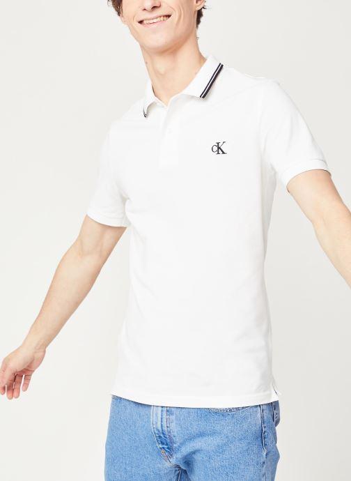 Kleding Calvin Klein Jeans Ck Essential Tipping Slim Polo Wit detail