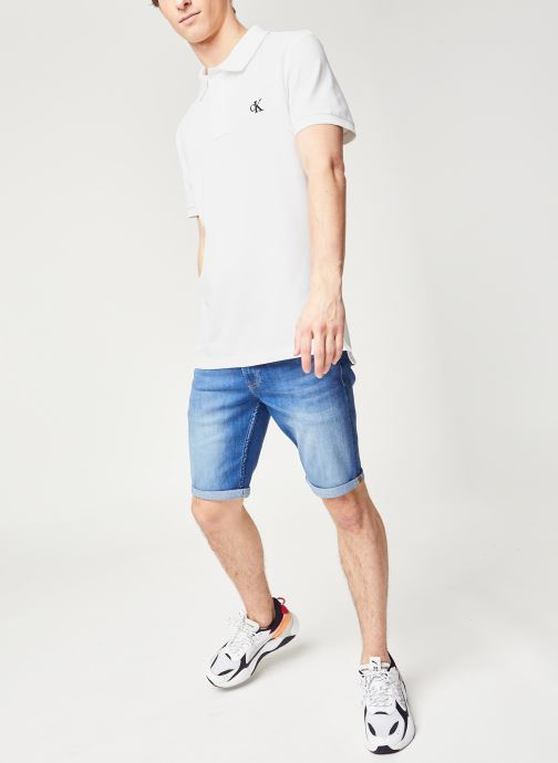 Vêtements Calvin Klein Jeans Ck Regular Polo Blanc vue bas / vue portée sac