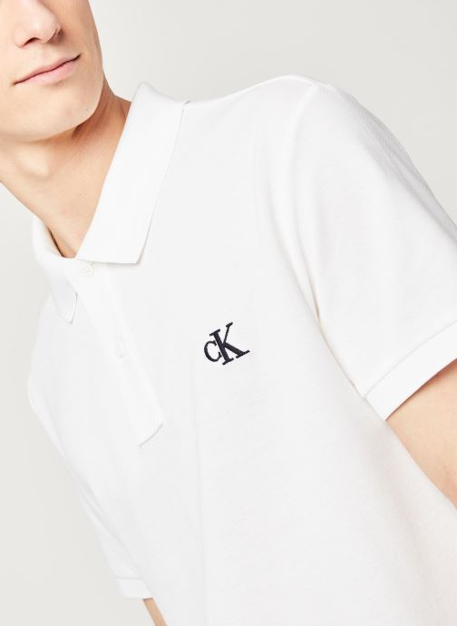 Vêtements Calvin Klein Jeans Ck Regular Polo Blanc vue face