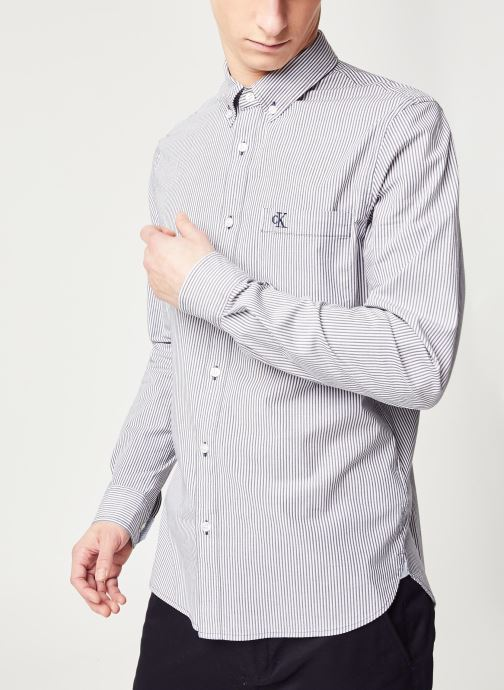 Washed Stripe Stretch Shirt 'F'