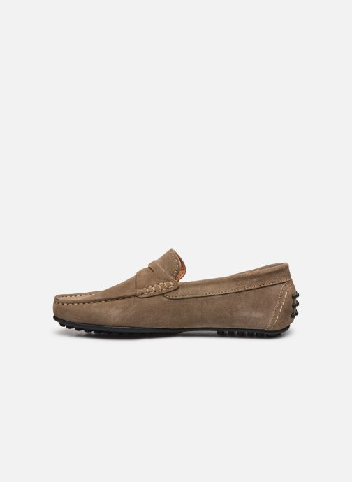 Mocassins Brett & Sons Berty Beige vue face