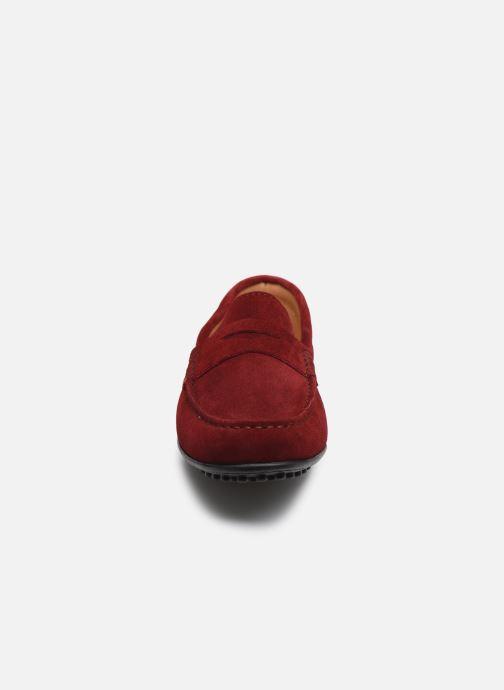 Mocassins Brett & Sons Berty Rouge vue portées chaussures