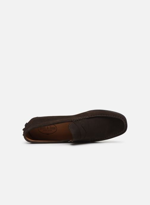Mocassins Brett & Sons Berty Marron vue gauche