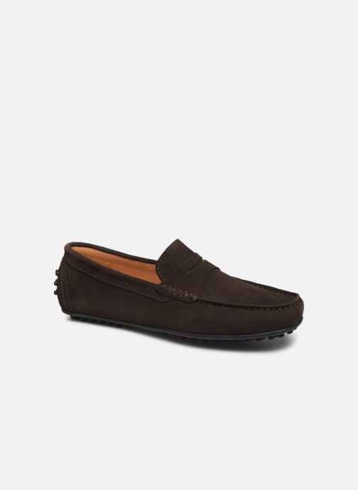 Mocassins Brett & Sons Berty Marron vue détail/paire