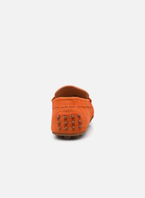 Mocassins Brett & Sons Berty Orange vue droite