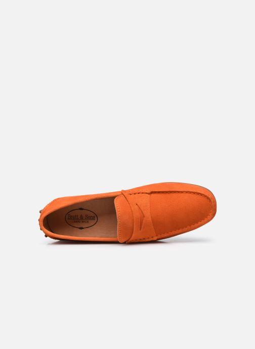 Mocassins Brett & Sons Berty Orange vue gauche