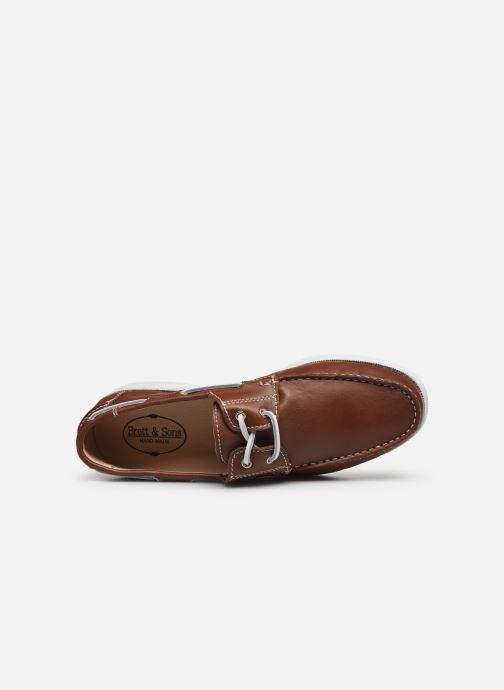 Zapatos con cordones Brett & Sons Jim Marrón vista lateral izquierda