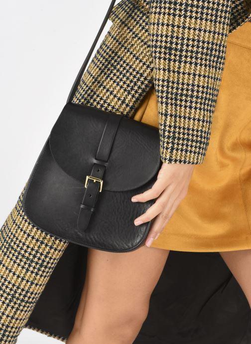Handtaschen Herbert Frère Soeur Sab Medium schwarz ansicht von unten / tasche getragen