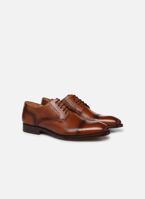 Chaussures à lacets Marvin&Co Luxe Cavendy - Cousu Goodyear Marron vue 3/4