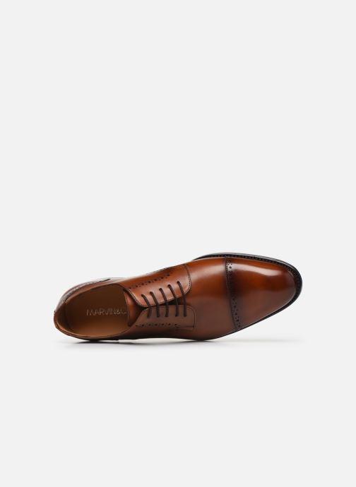Chaussures à lacets Marvin&Co Luxe Cavendy - Cousu Goodyear Marron vue gauche