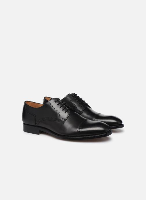 Zapatos con cordones Marvin&Co Luxe Cavendy - Cousu Goodyear Negro vista 3/4
