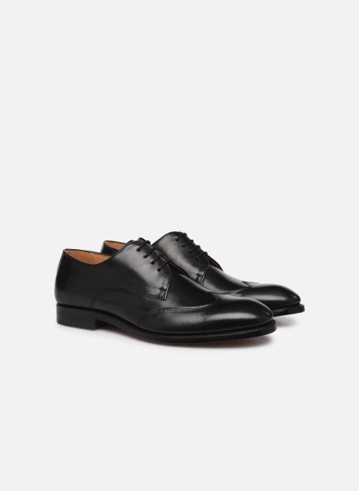 Zapatos con cordones Marvin&Co Luxe Ceventy - Cousu Goodyear Negro vista 3/4