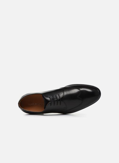 Zapatos con cordones Marvin&Co Luxe Ceventy - Cousu Goodyear Negro vista lateral izquierda
