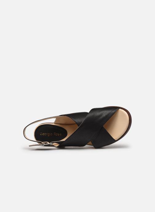 Sandales et nu-pieds Georgia Rose Soft Wivona Noir vue gauche
