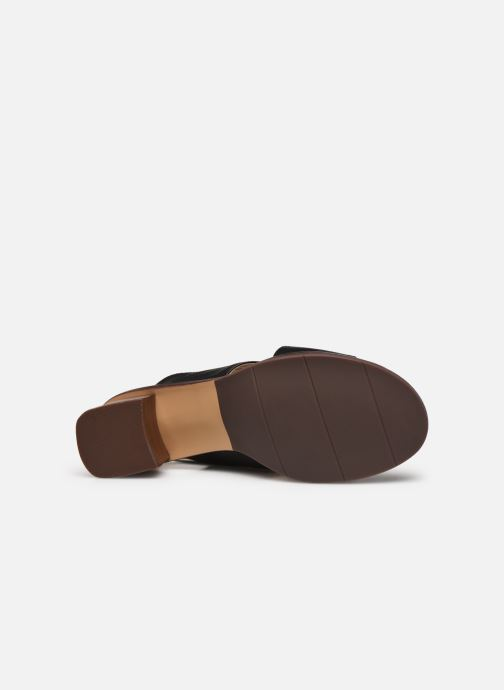 Sandales et nu-pieds Georgia Rose Soft Wivona Noir vue haut