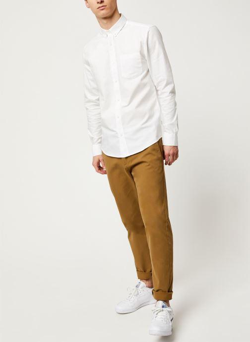 Vêtements Only & Sons Onsalvaro LS Oxford Shirt Blanc vue bas / vue portée sac