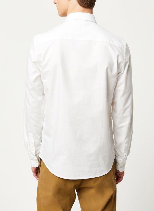 Vêtements Only & Sons Onsalvaro LS Oxford Shirt Blanc vue portées chaussures
