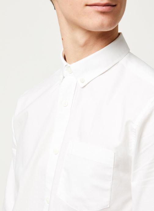 Vêtements Only & Sons Onsalvaro LS Oxford Shirt Blanc vue face