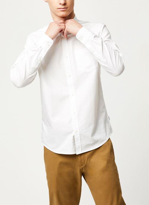 Vêtements Only & Sons Onsalvaro LS Oxford Shirt Blanc vue droite